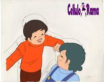 Candy Candy Cel of a Boy and he's Mom A5