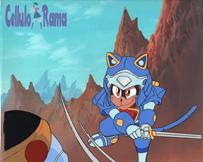 Samurai Pizza Cats Cel 009 A13 + BG